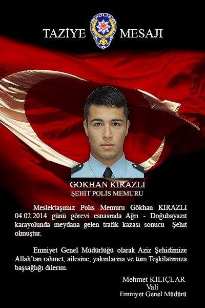 Şehit Polis Memuru Gökhan KİRAZLI