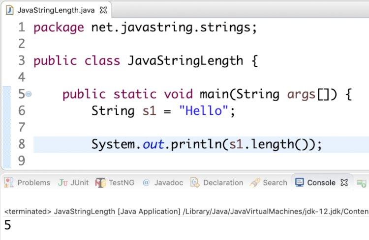 String Metotlarıyla İlgili Örnek Java Programları
