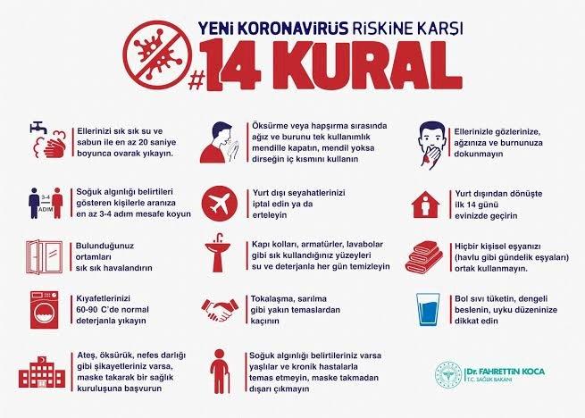 30.11.2020 tarihli korona virüs (covid-19) kapsamında alınan tedbirler