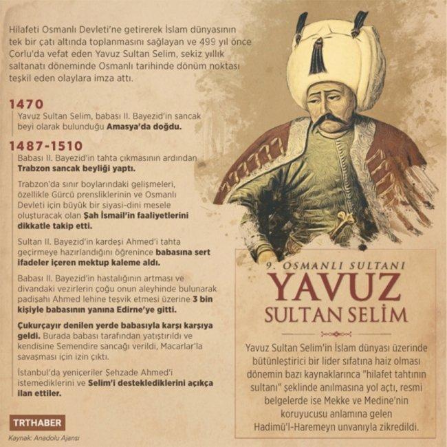"""Yavuz Sultan Selim """" Sanma şâhımherkesi sensâdıkâneyâr olur """"  şiirinin hikayesi"""